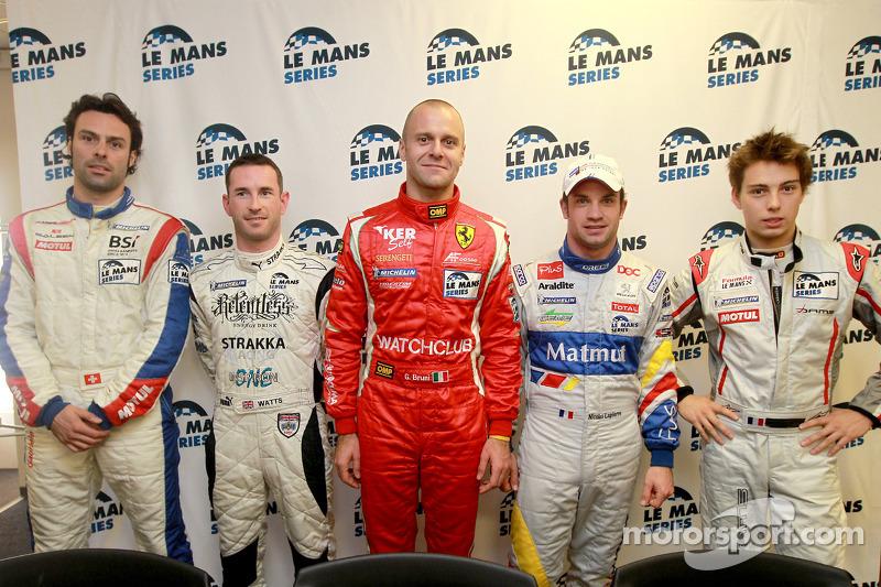 Persconferentie: LMGT1 polezitter Gabriele Gardel, LMP2 polezitter Danny Watts, LMGT2 polepositie Gi