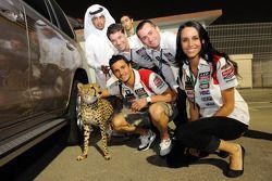 Randy De Puniet, LCR Honda MotoGP met cheetah