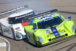 #75 Krohn Racing Ford Lola: Nic Jonsson, Tracy Krohn et #59 Brumos Racing Porsche Riley: David Donoh