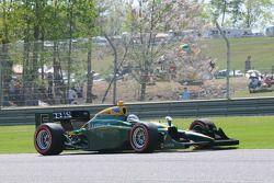 Takuma Sato, KV Racing Technology arrêté sur la piste