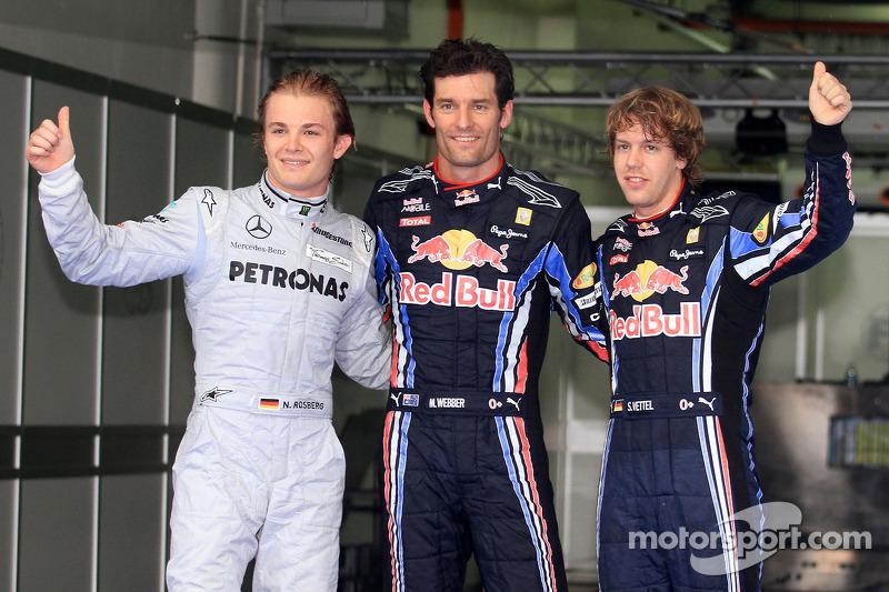 4. Malaysia 2010, Mark Webber vor Nico Rosberg - 1,346 Sekunden