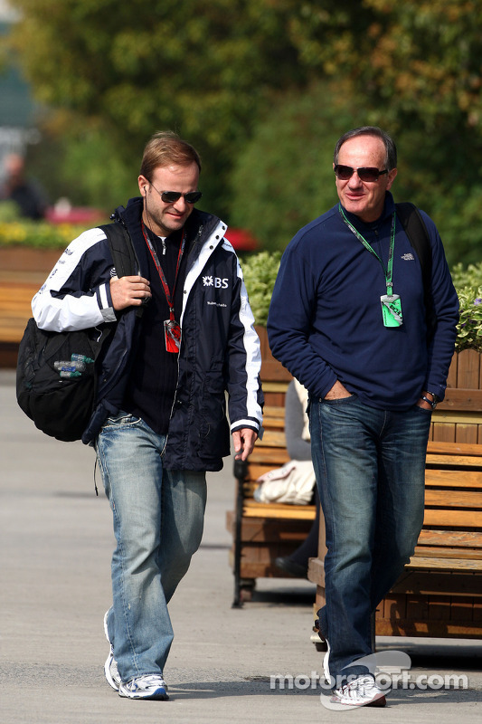 Rubens Barrichello, Williams F1 Team en vader Rubao Barrichello