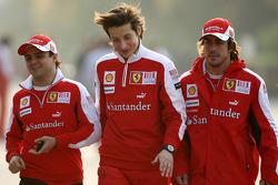 Felipe Massa, Scuderia Ferrari, Massimo Rivola Scuderia Ferrari, Fernando Alonso, Scuderia Ferrari