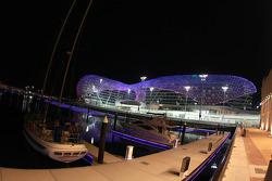 Yas Marina Circuit by night