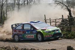 Микко Хирвонен и Ярмо Лехтинен, Ford Focus RS WRC08, BP Ford Abu Dhabi World Rally Team