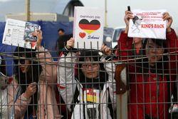 Fans of Michael Schumacher, Mercedes GP