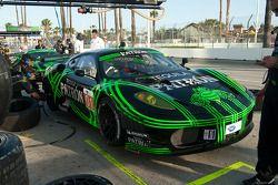 #01 Extreme Speed Motorsports Ferrari 430 GT: Scott Sharp, Johannes van Overbeek