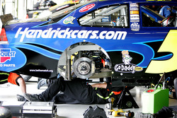 Work on the #5 Chevrolet of Mark Martin