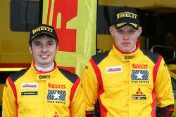 Ott Tanak Kuldar, Mitsubishi Lancer Evo X, Pilote star Pirelli
