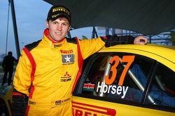 Peter Horsey, Mitsubishi Lancer Evo X, Pilote star Pirelli