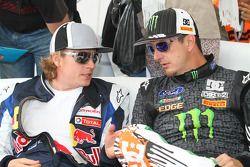 Kimi Raikkonen et Ken Block