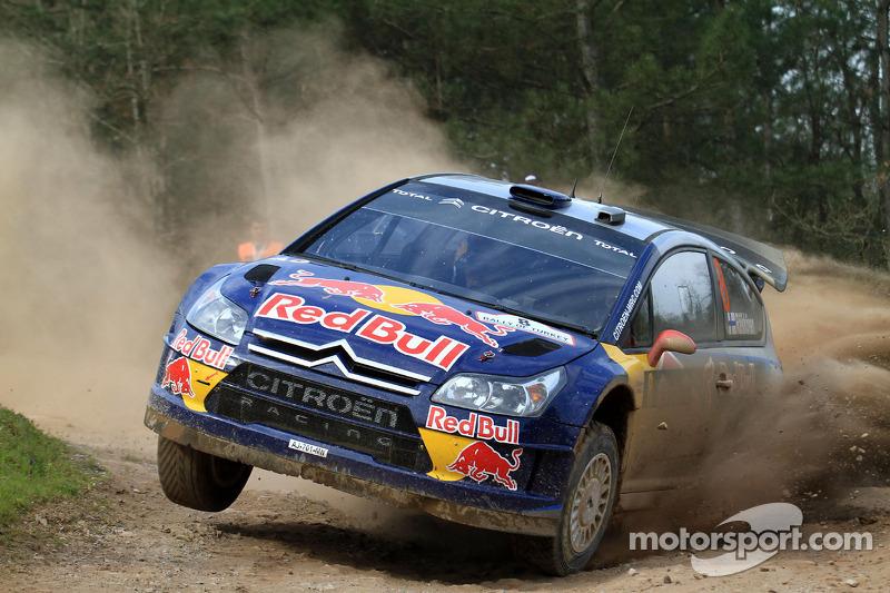 Kimi Raikkonen et Kaj Lindstrom, Citroën C4 WRC, Citroën Junior Team