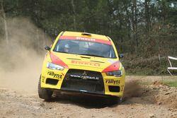 Hayden Paddon and John Kennard, Mitsubishi Lancer Evo X, Pirelli Star Driver