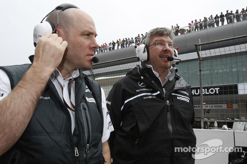 Jock claro, Mercedes GP, Ingeniero de carrera y jefe de equipo Ross Brawn, Mercedes GP