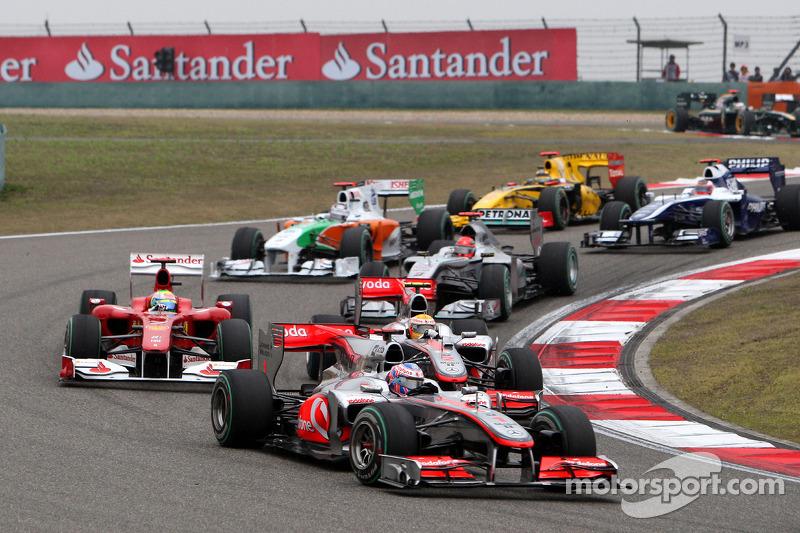 Jenson Button, McLaren Mercedes ve Lewis Hamilton, McLaren Mercedes