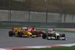 Роберт Кубица, Renault F1 Team и Адриан Сутиль, Force India F1 Team