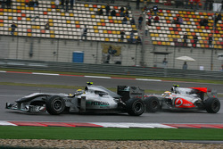 Nico Rosberg, Mercedes GP y Lewis Hamilton, McLaren Mercedes