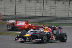 Sebastian Vettel, Red Bull Racing and Michael Schumacher, Mercedes GP