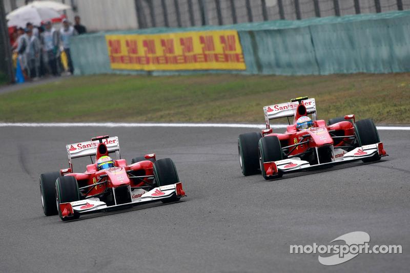Felipe Massa, Scuderia Ferrari lidera a Fernando Alonso, Scuderia Ferrari