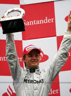 Podium: third place Nico Rosberg, Mercedes GP