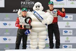 Michelin Green X Challenge podium: GT vainqueurs Patrick Long et Jorg Bergmeister