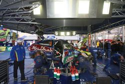 BP Ford Abu Dhabi World Rally Team service area