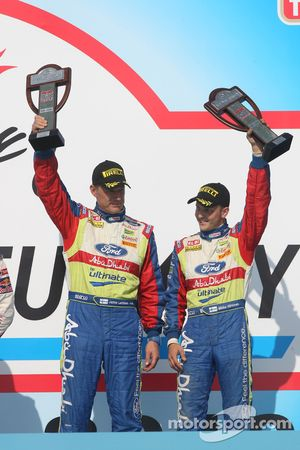 Podium: third place Mikko Hirvonen and Jarmo Lehtinen
