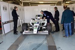 FIA weigh F2 car