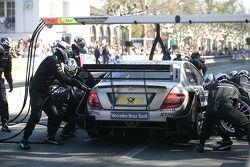 Pitstop practice Bruno Spengler, Team HWA AMG Mercedes C-Klasse