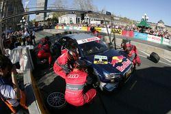 Pitstop practice Mattias Ekström, Audi Sport Team Abt Audi A4 DTM
