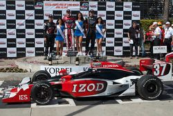 Ryan Hunter-Reay, Will Power and Justin Wilson are joined by the Miss Long Beach Grand Prix winner and runners up