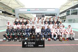 The 2010 FIA GT1 World Championship drivers group shot, with Stéphane Ratel and Richard Cregan
