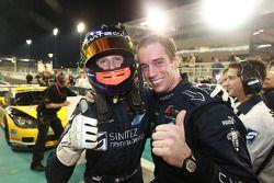 vainqueurs Romain Grosjean et Thomas Mutsch heureux