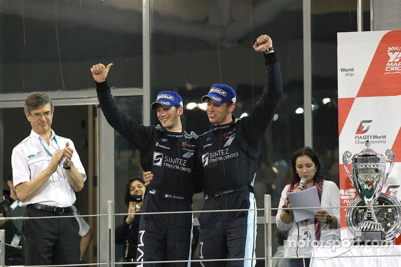 Podium: vainqueurs Romain Grosjean et Thomas Mutsch