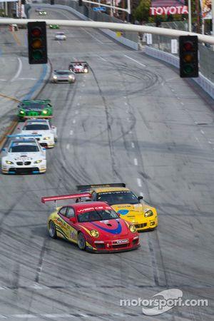 #4 Corvette Racing Chevrolet Corvette ZR1: Olivier Beretta, Oliver Gavin, #69 WERKS II Racing Porsche 911 GT3 Cup: Robert Rodriquez, Galen Bieker