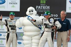 Michelin Green X Challenge podium: prototype winners Klaus Graf and Greg Pickett