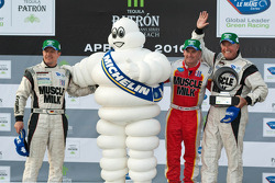 Michelin Green X Challenge podium: prototype winners Klaus Graf and Greg Pickett