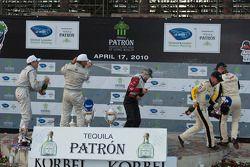 LMGT podium: champagne celebrations