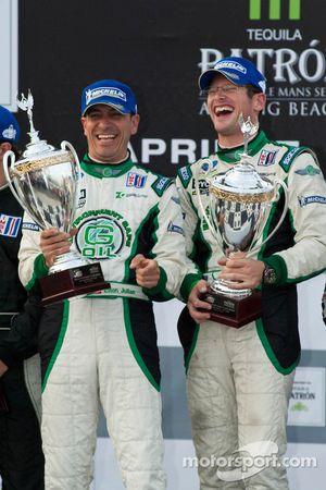 LMPC podium: class winners Gunnar Jeannette and Elton Julian