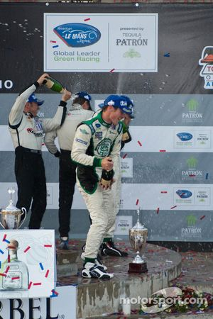 LMPC podium: champagne celebrations