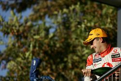 Jamie Whincup celebrates victory after taking out race two of the Hamilton 400