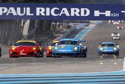 #96 AF Corse Ferrari F430 GT: Gianmaria Bruni, Jaime Melo, #77 Team Felbermayr Proton Porsche 997 GT3 RSR: Marc Lieb, Richard Lietz
