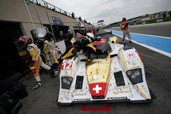 Passage aux stands pour #12 Rebellion Racing Lola B10/60 Coupé - Rebellion: Nicolas Prost, Neel Jani