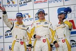 LMP1 podium: 3e Andrea Belicchi, Jean-Christophe Boullion et Guy Smith