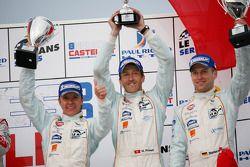 LMP1 podium: 2e Adrian Fernandez, Harold Primat et Stefan Mücke