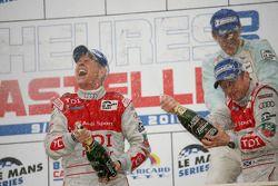 LMP1 podium: class and overall winners Rinaldo Capello and Allan McNish