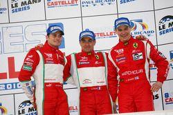 LMGT2 podium: third place Giancarlo Fisichella, Toni Vilander and Jean Alesi
