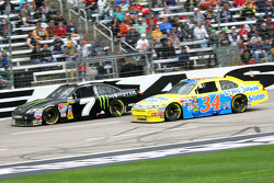 Robby Gordon, Robby Gordon Motorsports Toyota and Travis Kvapil, Front Row Motorsports with Yates Racing Ford