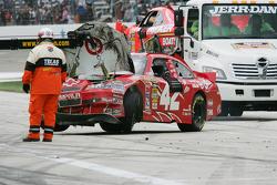 Voiture de Juan Pablo Montoya, Earnhardt Ganassi Racing Chevrolet après l'accident massif
