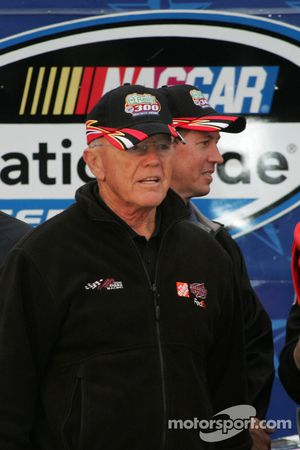 Victory lane: coach Joe Gibbs